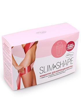 Концентрат-пропитка для похудения и борьбы с целлюлитом Slim&Shape, Gezatone, 20*20мл+шейкер Созвездие Красоты 1499.000