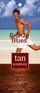 Гель-активатор загара с эффектом лифтинга Bronze Blues 3-я фаза, 20 саше по 20 мл, Tan Symphony (TAN SYMPHONY)
