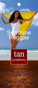 Эмульсия-активатор загара с антицеллюлитным эффектом Sunshine Reggae 3-я фаза, 20 саше по 20 мл, Tan Symphony (TAN SYMPHONY)