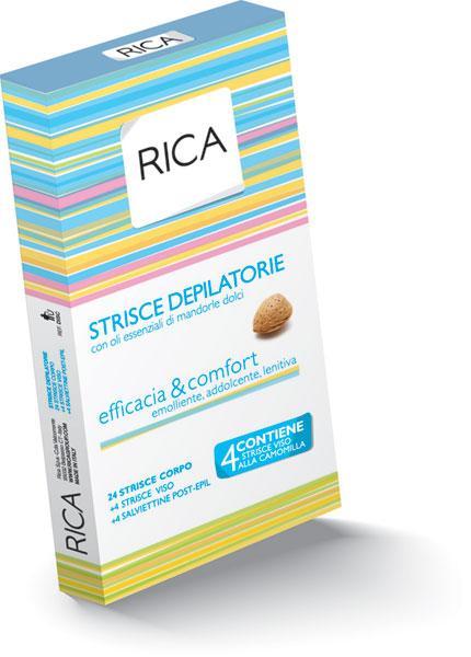 Полоски для тела Rica депиляционные восковые с эфирными маслами миндаля Созвездие Красоты 767.000