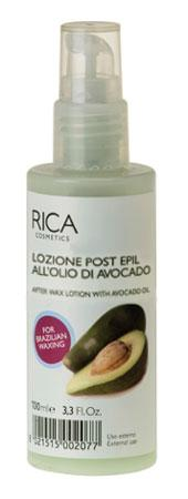 Лосьон очищающий после депиляции Rica с маслом авокадо, 100мл Созвездие Красоты 847.000