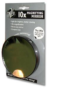 Косметическое зеркало Rio с 10х увеличением и подсветкой от Созвездие Красоты