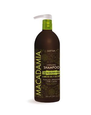 Интенсивно увлажняющий шампунь Kativa для нормальных и поврежденных волос MACADAMIA, 1000мл