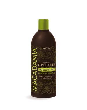 Интенсивно увлажняющий кондиционер Kativa для нормальных и поврежденных волос MACADAMIA, 500мл