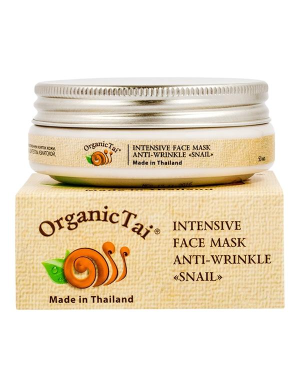 Маска для лица против морщин «С экстрактом улитки» Organic Tai, 50 мл маска с слизью улитки