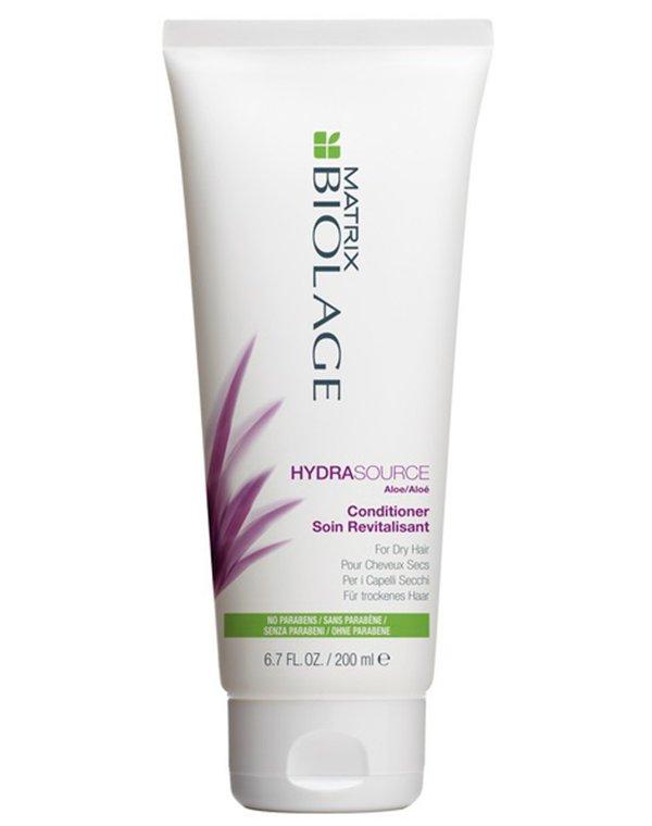 Кондиционер увлажняющий Biolage Hydrasource Conditioner MatrixБальзамы для сухих волос<br>Кондиционер насыщает волосы влагой, регулирует водный баланс. Волосы становятся мягкими, обретают жизненную энергию и здоровый блеск.<br><br>Бренды: Matrix<br>Вид товара: Кондиционер, бальзам<br>Область ухода: Волосы<br>Назначение: Увлажнение и питание<br>Тип кожи, волос: Осветленные, мелированные, Окрашенные, Сухие, поврежденные, Нормальные<br>Косметическая линия: Линия Biolage Hydrasource глубокого увлажнения волос<br>Объем мл: 200