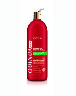 Шампунь Защита цвета KATIVA для всех типов волос QUINUA PRO, 1000 млУход за волосами<br>Шампунь Kativa серии «Киноа» создан специально для питания и укрепления внешней и внутренней структур волоса, облегчает укладку и расчесывание, дарит волосам упругость и  гладкость, способствует сохранению цвета окрашенных волос.<br>