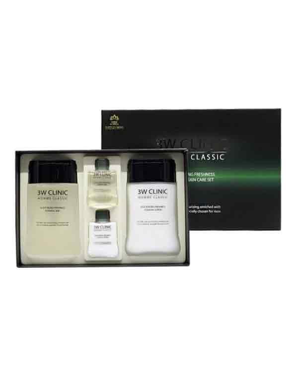Увлажнение и свежесть Набор для ухода за мужской кожей HOMME Classic Moisturizing Freshnes, 3W Clinic набор для ухода за кожей лица фаберлик отзывы
