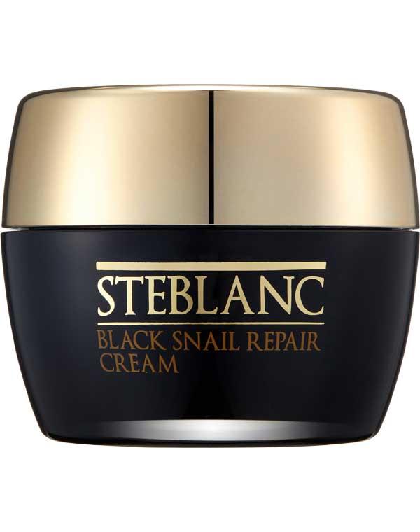 Крем для лица восстанавливающий с муцином Черной улитки Black Snail Repair Cream Steblanc питательный улиточный крем snail repair perfect cream
