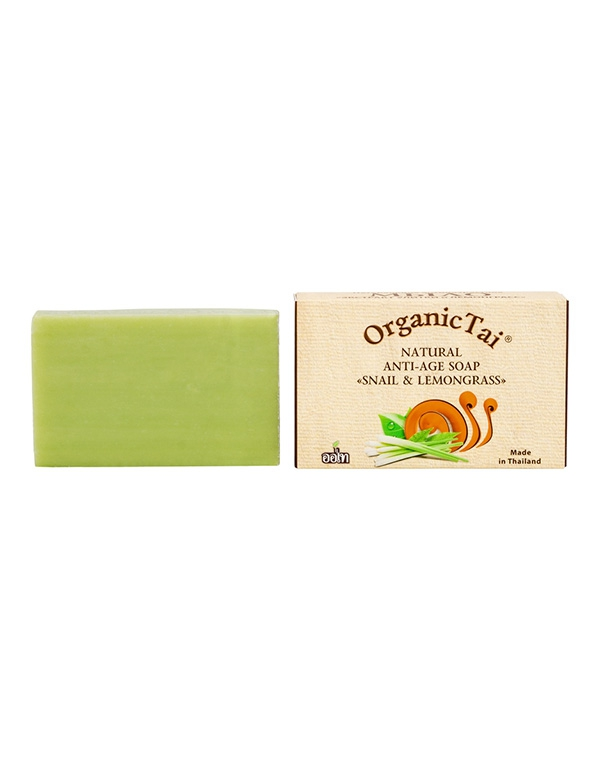 Мыло натуральное антивозрастное «Экстракт улитки и Лемонграсс» Organic Tai, 100 г мыловаров натуральное мыло огуречное 2штx80 г
