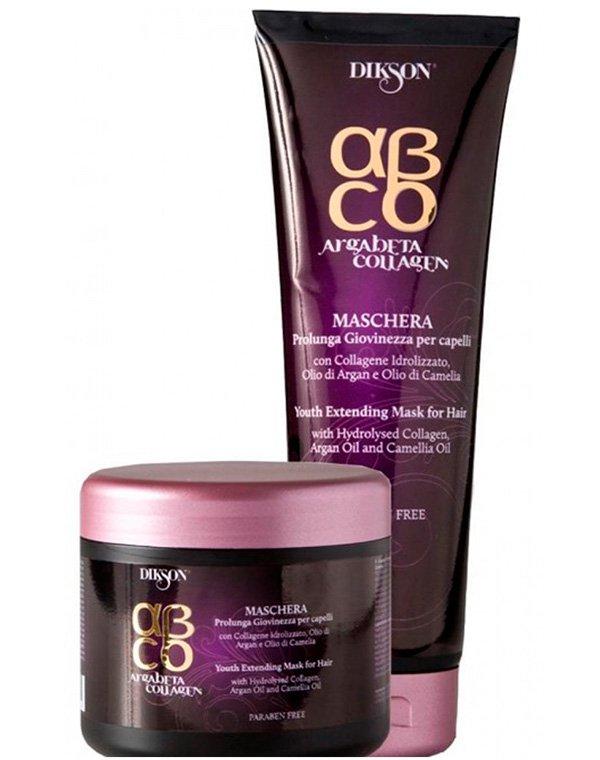 Маска для волос DiksonМаски для лечения волос<br>Экстренное восстановление всех типов локонов. Маска делает волосы прочными и крепкими без утяжеления.<br><br>Бренды: Dikson<br>Вид товара: Маска для волос<br>Область ухода: Волосы<br>Назначение: Увлажнение и питание, Восстановление и защита<br>Тип кожи, волос: Осветленные, мелированные, Окрашенные, Вьющиеся, Сухие, поврежденные, Жирные, Нормальные, Тонкие<br>Косметическая линия: Линия Argabeta Line Collagene для восстановления волос на клеточном уровне на основе арганового масла, коллагена<br>Объем мл: 250