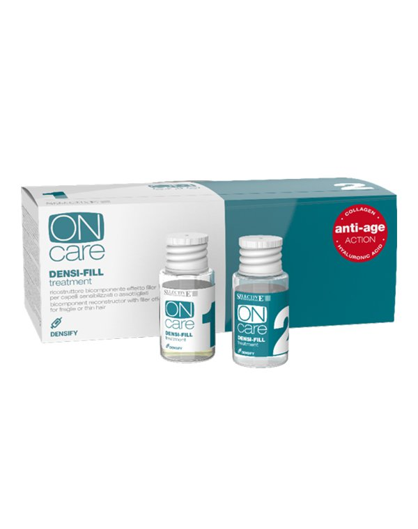 Шампунь Selective Филлер двухкомпонентный для восстановления волос Densi-fill treatment, Selective, 5+5*15 мл dnc набор филлер для волос 3 15 мл и шелк для волос 4 10 мл