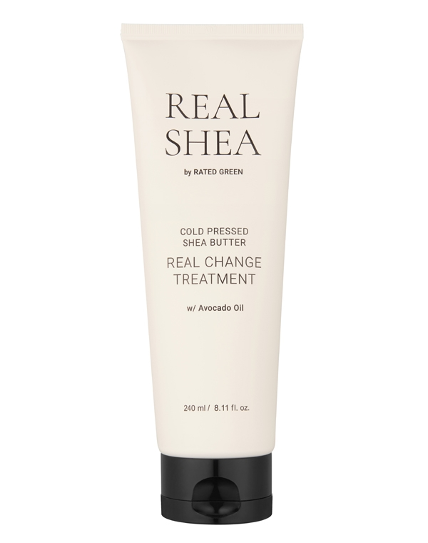 Купить Маска Rated Green, Маска для волос питательная с маслом ши Cold Pressed Shea Butter Real Change 240 мл Rated Green