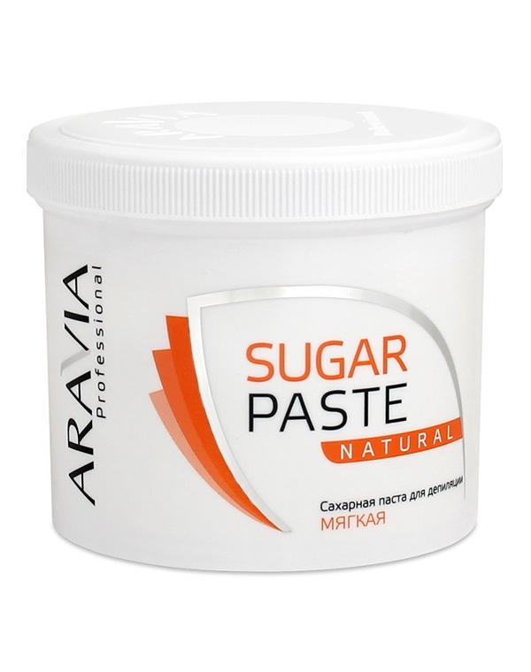 Сахарная паста для депиляции «Натуральная» мягкой консистенции ARAVIA Professional, 750 гр