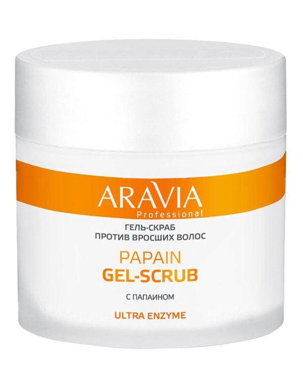 Гель-скраб против вросших волос Papain Gel-Scrub, ARAVIA Professional, 300 мл