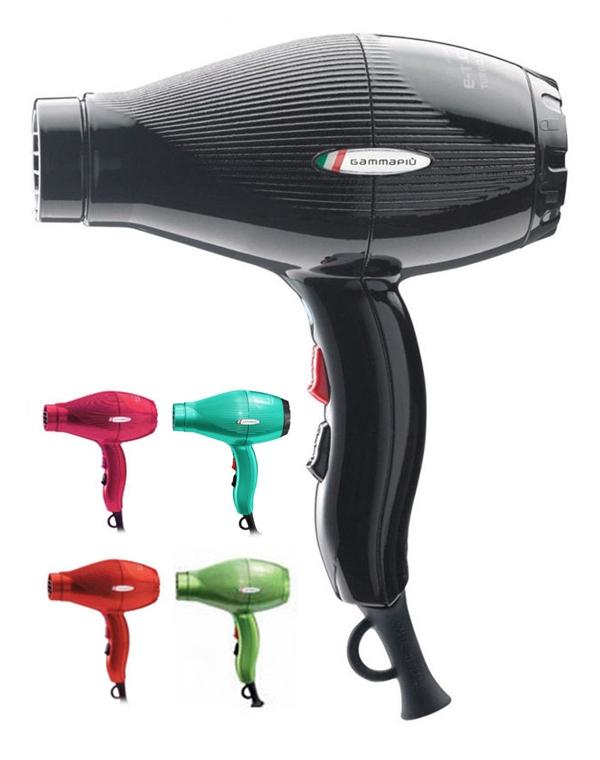 Фен, плойка, щипцы Gamma PIUФены<br>Тихий в работе фен с мотором повышенной мощности и турмалиновой ионизацией.<br><br>Бренды: Gamma PIU<br>Вид товара: Фен, плойка, щипцы<br>Область ухода: Волосы<br>Назначение: Стайлинг<br>Тип кожи, волос: Осветленные, мелированные, Окрашенные, Вьющиеся, Сухие, поврежденные, Жирные, Нормальные, Тонкие