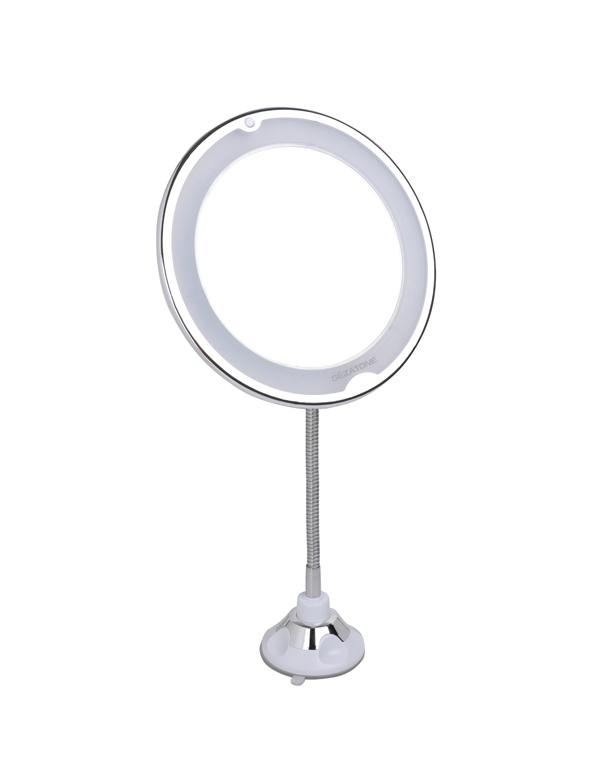 Зеркало косметическое 10 х с подсветкой, на гибкой штанге и присоске LM209, Gezatone