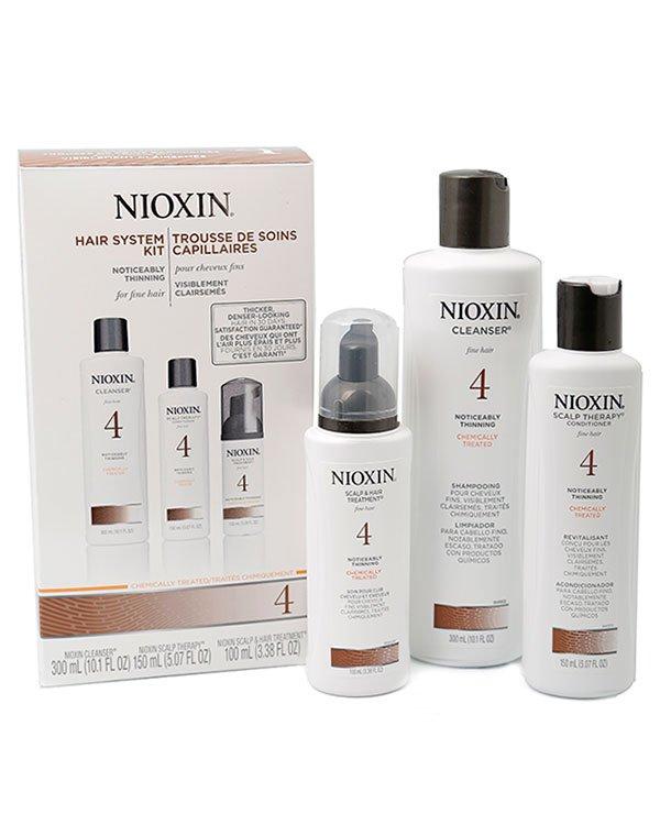 Набор XXL система 4 NioxinНабор для восстановления волос после окрашивания и других химических обработок, останавливает выпадение.<br><br>Бренды: Nioxin<br>Вид товара: Шампунь, Кондиционер, бальзам, Маска для волос<br>Область ухода: Волосы<br>Назначение: Увлажнение и питание, От выпадения волос, Стимуляция роста, Очищение волос, Для объема<br>Тип кожи, волос: Осветленные, мелированные, Окрашенные, Сухие, поврежденные, Нормальные, Тонкие<br>Косметическая линия: Линия Система 4 Для тонких химобработанных волос заметно редеющих