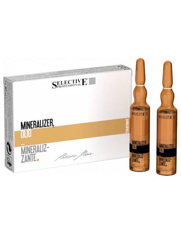 Реструктуириющий лосьон для волос Mineralizer, SelectiveСыворотки для восстановления волос<br>Лосьон для интенсивной реконструкции поврежденных волос. Делает волосы более сильными и стойкими к повреждениям. Восстанавливает естественную упругость и жизненный тонус. В состав входят минералы и полезные микроэлементы.<br><br>Бренды: Selective<br>Вид товара: Сыворотка, флюид<br>Область ухода: Волосы<br>Назначение: Восстановление волос, Для секущихся кончиков<br>Тип кожи, волос: Осветленные, мелированные, Окрашенные, Сухие, поврежденные<br>Косметическая линия: ARTISTIC FLAIR Линия для ухода и укладки