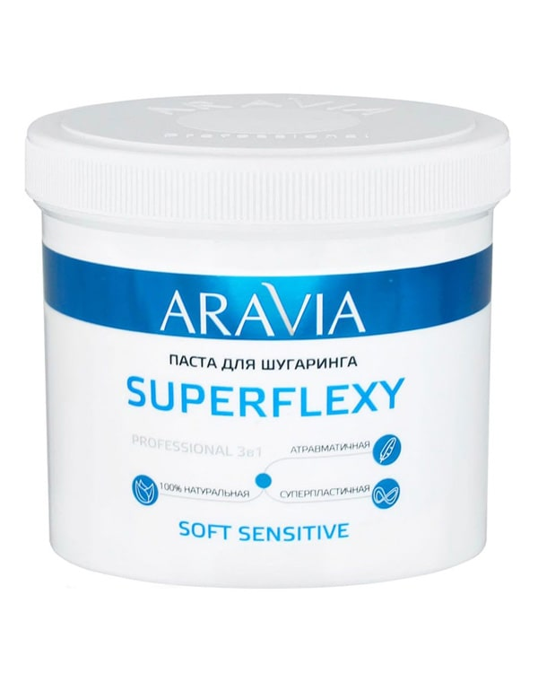 Паста для шугаринга SuperFlexy Soft Sensitive, ARAVIA Professional, 750 г