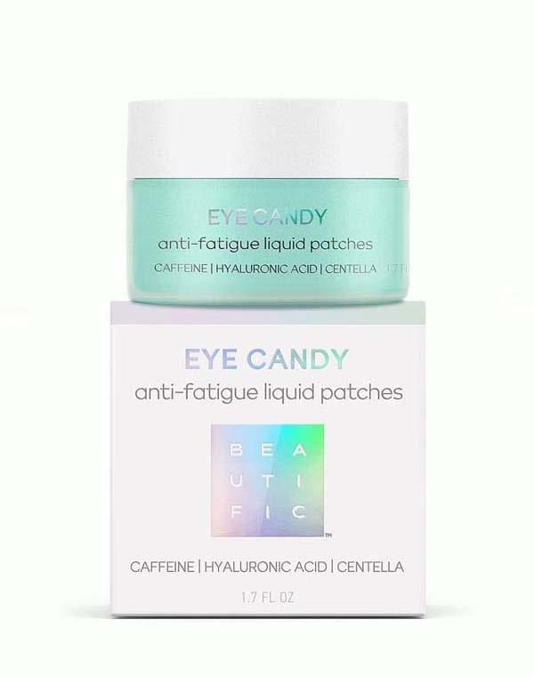 Патчи для кожи вокруг глаз жидкие гидрогел экспресс-помощи против усталости Eye candy Beautific