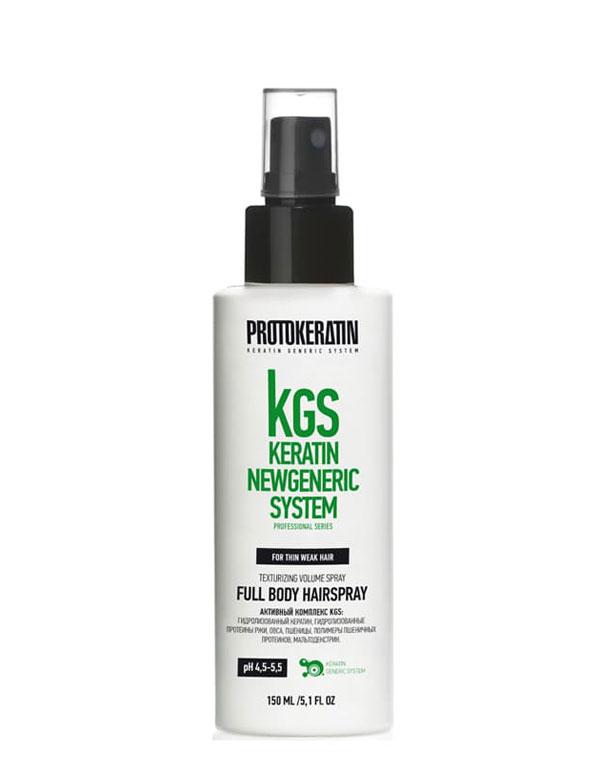 Купить Спрей, мусс, аэрозоль Protokeratin, Спрей для объема и текстуры тонких волос Full body hairspray 150 мл Protokeratin