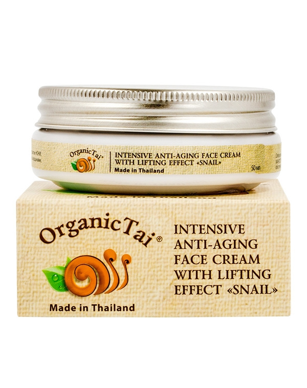 Лифтинг-крем интенсивный антивозрастной для лица «С экстрактом улитки» Organic Tai, 50 мл цена и фото