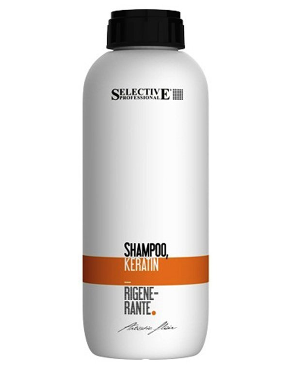 Шампунь SelectiveШампуни для сухих волос<br>Шампунь Keratin Rigenerante восстанавливает поврежденные волосы, активно насыщает влагой сухие и безжизненные локоны. Делает волосы мягкими и шелковистыми, возвращая им природный блеск и жизненную силу.<br><br>Бренды: Selective<br>Вид товара: Шампунь<br>Область ухода: Волосы<br>Назначение: Восстановление волос<br>Тип кожи, волос: Осветленные, мелированные, Окрашенные, Сухие, поврежденные<br>Косметическая линия: ARTISTIC FLAIR Линия для ухода и укладки