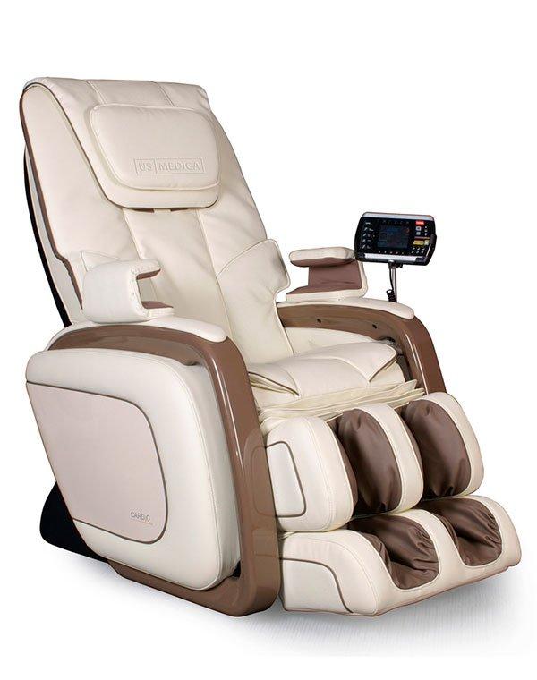 Массажное кресло US Medica CardioМассажные кресла<br>Профессиональное кресло Cardio займет достойное место дома и в массажных кабинетах. Массажное воздействие осуществляется при полном контроле тела пользователя.<br><br>Бренды: US MEDICA<br>Область ухода: Тело<br>Назначение: Массаж тела<br>Цвет: Бежевый