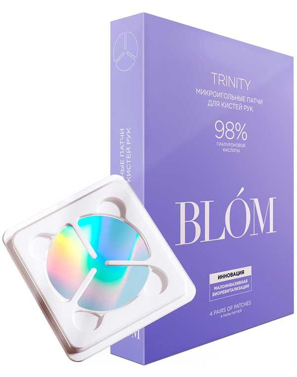 Купить Патчи, нетканные маски BLOM, Патчи микроигольные для кистей рук Trinity 2 пары/4 пары BLOM, РОССИЯ