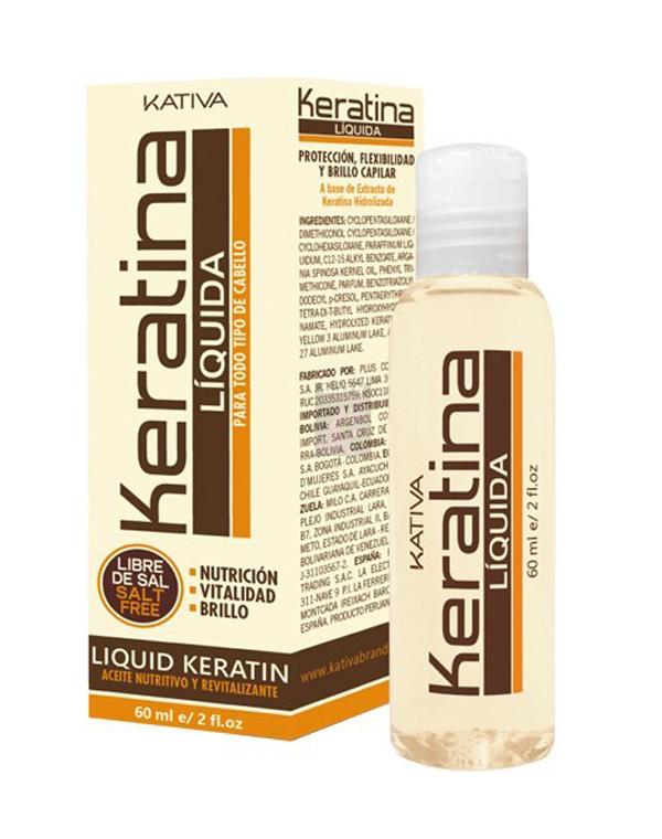 Жидкий кератин KERATINA, Kativa, 60 мл жидкий блеск для волос