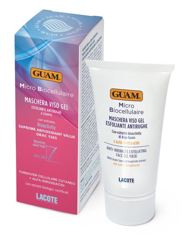 Маска плёночная для лица отшелушивающая омолаживающая, GUAM, 75 мл белита экспресс маска гель для лица для всех типов кожи активное насыщение влагой 100 мл