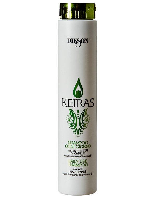Шампунь с пантенолом и Витамином E Shampoo Ogni Giorno, DiksonШампуни для сухих волос<br>Деликатно очищающий локоны шампунь. Препарат не пересушивает пряди, а наполняет их влагой и свежестью.<br><br>Бренды: Dikson<br>Вид товара: Шампунь<br>Область ухода: Волосы<br>Назначение: Увлажнение и питание<br>Тип кожи, волос: Осветленные, мелированные, Окрашенные, Вьющиеся, Сухие, поврежденные, Нормальные, Тонкие<br>Косметическая линия: Линия Keiras Daily Wellness для ежедневного ухода<br>Объем мл: 1000