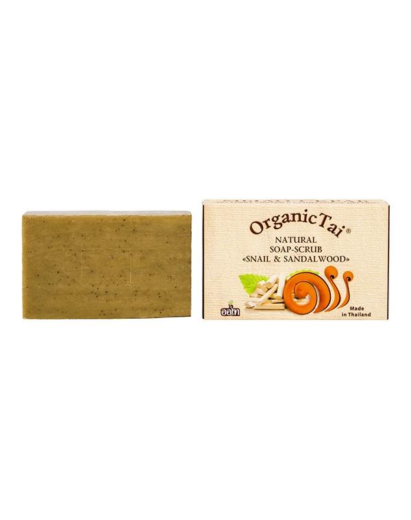Мыло-скраб натуральное «Экстракт улитки и сандаловое дерево» Organic Tai, 100 г мыловаров натуральное мыло огуречное 2штx80 г
