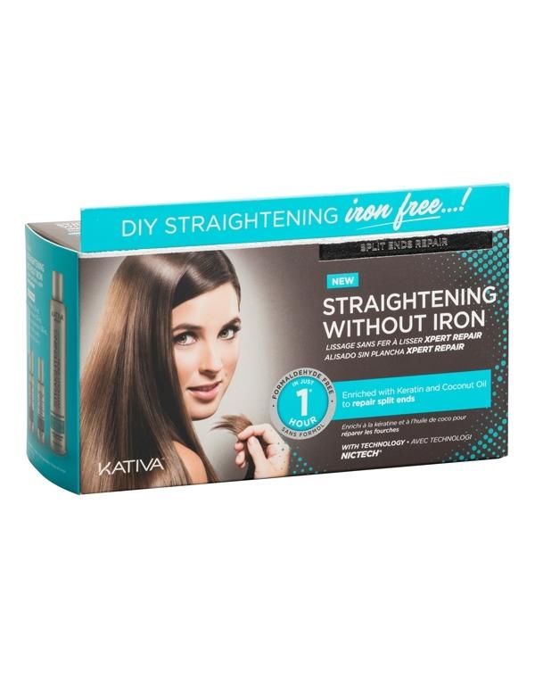 Набор для выпрямления волос «Восстановление» для волос с секущимися кончиками IRON FREE Kativa фото