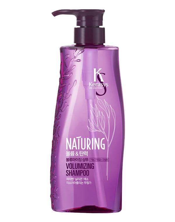 Шампунь для волос Naturing Объем и эластичность с морскими водорослями KeraSys, 500 мл шампунь для волос прелесть bio питание и увлажнение с алоэ и морскими минералами 500 мл