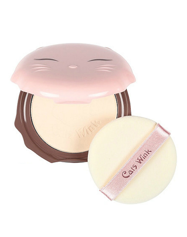 Крем Tony Moly Пудра Cats Wink Clear Pact, Tony Moly спонж tony moly water latex free sponge 1 шт