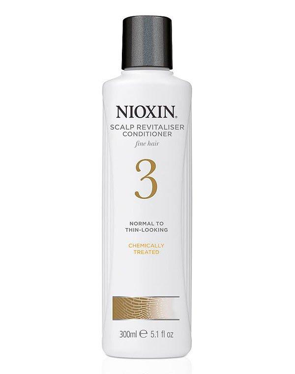 Кондиционер, бальзам NioxinБальзамы для лечения волос<br>Предназначен для восстановления тонких волос, ослабленных окрашиванием и парикмахерскими процедурами.<br><br>Бренды: Nioxin<br>Вид товара: Кондиционер, бальзам<br>Область ухода: Волосы<br>Назначение: Увлажнение и питание, От выпадения волос, Стимуляция роста, Для объема<br>Тип кожи, волос: Осветленные, мелированные, Окрашенные, Сухие, поврежденные, Нормальные, Тонкие<br>Косметическая линия: Линия Система 3 Для тонких химобработанных/нормальных волос с тенденцией к выпадению<br>Объем мл: 1000