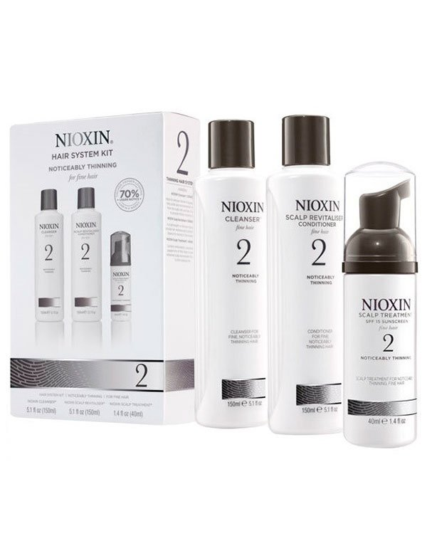 Набор система 2 NioxinШампуни для окрашеных волос<br>Полноценный уход за тонкими волосами, заметно редеющими и ломкими. Набор разработан для неокрашенных прядей.<br><br>Бренды: Nioxin<br>Вид товара: Шампунь, Кондиционер, бальзам, Маска для волос<br>Область ухода: Волосы<br>Назначение: Увлажнение и питание, От выпадения волос, Стимуляция роста, Очищение волос, Для объема<br>Тип кожи, волос: Нормальные, Тонкие<br>Косметическая линия: Линия Система 2 Для тонких натуральных волос заметно редеющих