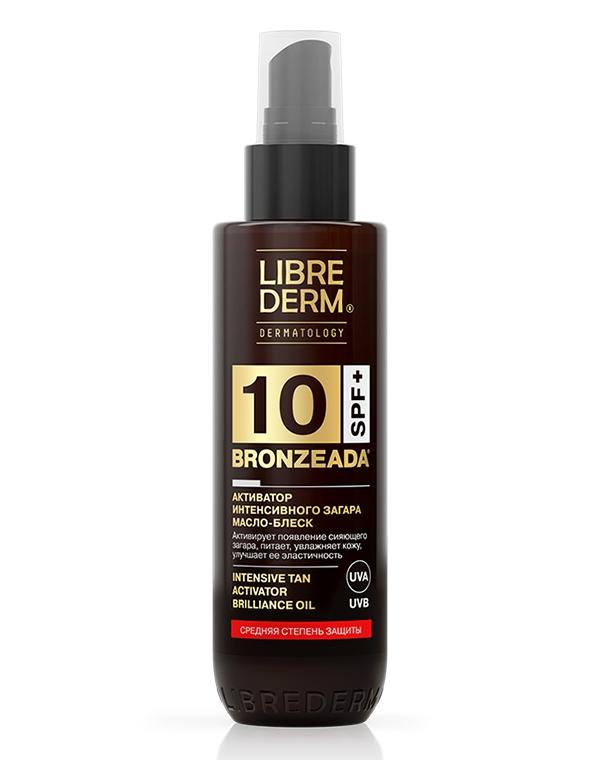 Масло-блеск SPF 10 Активатор интенсивного загара Bronzeada, Librederm, 150 мл