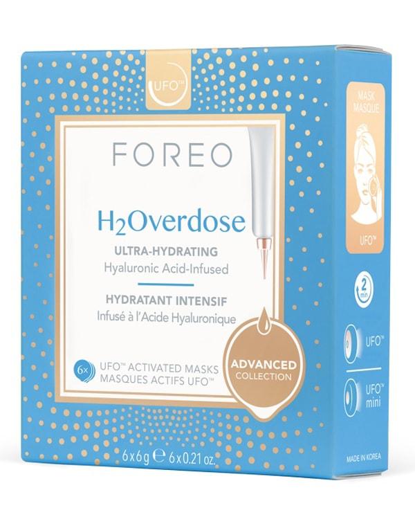 Ультра-увлажняющая маска для сухой кожи H2Overdose Mask, Foreo, 6 шт х 6 г garnier маска тканевая для сухой и чувствительной кожи комфорт увлажняющая