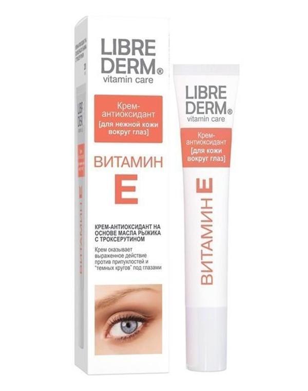 Купить Крем, бальзам Librederm, Крем-антиоксидант для нежной кожи вокруг глаз Витамин Е, Librederm, 20 мл