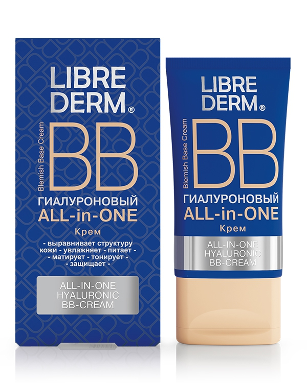 Крем Librederm ВВ крем ALL in ONE Гиалуроновая, Librederm, 50 мл крем librederm vitamin e cream antioxidant for face 50 мл
