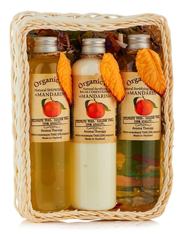 Набор: Шампунь для волос + Бальзам-кондиционер Гель душа «Мандарин», Organic Tai