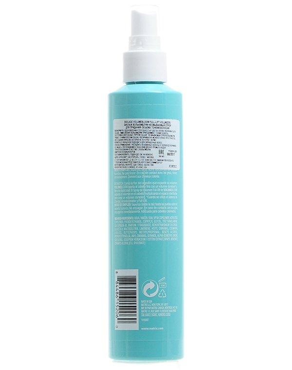 Несмываемый уход, защита Matrix Спрей несмываемый для придания объема тонким волосам Biolage Volumebloom Spray Matrix