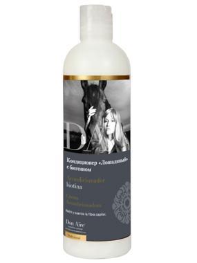 Кондиционер с Биотином Лошадиный, Don Aire 500млУход за сухими волосами<br>Восстанавливающий кондиционер для волос любого типа, в том числе тонких, поврежденных и ломких волос, подходит для частого использования.<br><br>Бренды: Don Aire<br>Вид товара: Кондиционер, бальзам<br>Область ухода: Волосы<br>Назначение: Увлажнение и питание, Ежедневный уход, Восстановление волос, Для секущихся кончиков, Восстановление и защита<br>Тип кожи, волос: Осветленные, мелированные, Окрашенные, Вьющиеся, Сухие, поврежденные, Жирные, Нормальные, Тонкие<br>Возрастная группа: Более 40, До 30, До 40