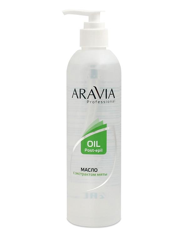 Масло после депиляции с экстрактом мяты ARAVIA Professional, 300 мл фото