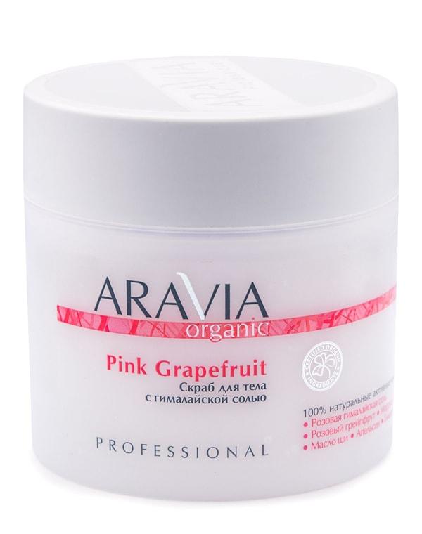 Купить Пилинг, скраб Aravia, Скраб для тела с гималайской солью Pink Grapefruit, ARAVIA Organic, 300 мл, РОССИЯ