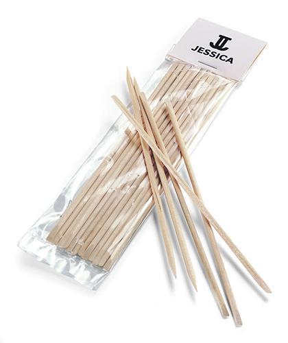 Палочки Jessica из апельсинового дерева, 12 шт.Инструменты для маникюра<br>Незаменимый аксессуар для маникюра для коррекции и удаления покрытия из 100% натурального материала. Палочки используются в процедурах безобрезного европейского маникюра для отодвигания кутикулы.<br><br>Бренды: JESSICA