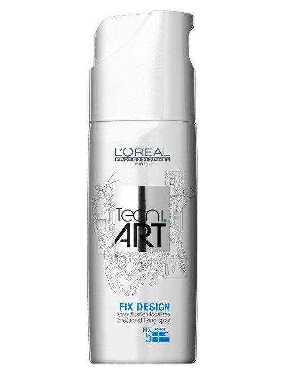 Спрей для локальной фиксации 5 Fix Design LorealСпрей для волос<br>Средство содержит полимеры, которые обволакивают волосяное волокно и защищают его от негативного воздействия окружающей среды. Препарат обеспечивает сверхсильную фиксацию.<br><br>Бренды: Loreal Professional<br>Вид товара: Спрей, мусс<br>Область ухода: Волосы<br>Назначение: Стайлинг<br>Тип кожи, волос: Осветленные, мелированные, Окрашенные, Вьющиеся, Сухие, поврежденные, Нормальные, Тонкие<br>Косметическая линия: Линия Tecni Art для укладки волос